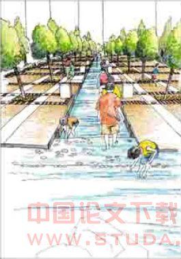 居住区水景景观设计:居住区入口水景